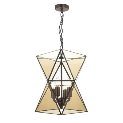 Favourite Polihedron 1920-4P ЛюстраПодвесные<br><br><br>S освещ. до, м2: 8<br>Крепление: планка<br>Тип цоколя: E14<br>Количество ламп: 4<br>Размеры: D350*H405/1190<br>MAX мощность ламп, Вт: 40