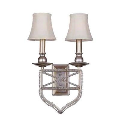 Настенный светильник бра Favourite 1921-2W MarquiseКлассические<br><br><br>Тип лампы: Накаливания / энергосбережения / светодиодная<br>Тип цоколя: E27<br>Количество ламп: 2<br>MAX мощность ламп, Вт: 60<br>Размеры: W290*H500*D100