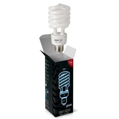 Лампа Gauss 192330 Spiral 30W 6500K E27 1/10/50Спиральные<br>В интернет-магазине «Светодом» можно купить не только люстры и светильники, но и лампочки. В нашем каталоге представлены светодиодные, галогенные, энергосберегающие модели и лампы накаливания. В ассортименте имеются изделия разной мощности, поэтому у нас Вы сможете приобрести все необходимое для освещения.   Лампа Gauss 192330 Spiral 30W 6500K E27 1/10/50 обеспечит отличное качество освещения. При покупке ознакомьтесь с параметрами в разделе «Характеристики», чтобы не ошибиться в выборе. Там же указано, для каких осветительных приборов Вы можете использовать лампу Gauss 192330 Spiral 30W 6500K E27 1/10/50Gauss 192330 Spiral 30W 6500K E27 1/10/50.   Для оформления покупки воспользуйтесь «Корзиной». При наличии вопросов Вы можете позвонить нашим менеджерам по одному из контактных номеров. Мы доставляем заказы в Москву, Екатеринбург и другие города России.<br><br>Цветовая t, К: CW - дневной белый 6000 К<br>Тип лампы: Энергосберегающая<br>Тип цоколя: E27<br>MAX мощность ламп, Вт: 30<br>Диаметр, мм мм: 60<br>Высота, мм: 142