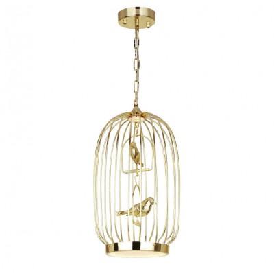 Favourite Chick 1928-2P ЛюстраПодвесные<br><br><br>Установка на натяжной потолок: Да<br>S освещ. до, м2: 5<br>Крепление: планка<br>Тип цоколя: LED<br>Цвет арматуры: золотой<br>Количество ламп: 1<br>Размеры: D280*H520/1300<br>MAX мощность ламп, Вт: 12