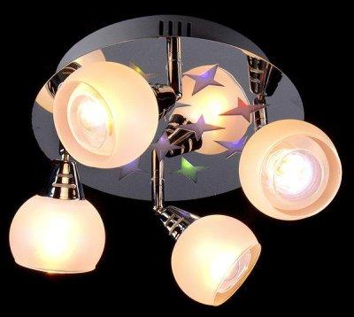 Люстра Евросвет 1929/4 хромПоворотные<br><br><br>Установка на натяжной потолок: Да<br>S освещ. до, м2: 10<br>Крепление: Планка<br>Тип товара: светильник поворотный спот<br>Тип лампы: накаливания / энергосбережения / LED-светодиодная<br>Тип цоколя: E14<br>Количество ламп: 4<br>MAX мощность ламп, Вт: 40<br>Диаметр, мм мм: 300<br>Высота, мм: 250<br>Цвет арматуры: серебристый