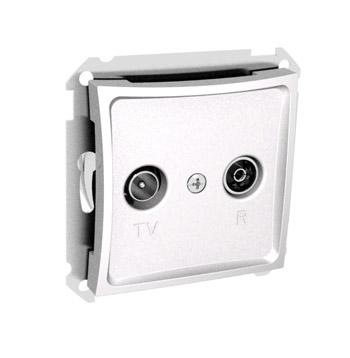 Lexel Дуэт белый Розетка телевизионная TV-R одиночная 2dB (SE WDE000193)Белый<br><br><br>Тип товара: розетка TV/FM<br>Оттенок (цвет): белый