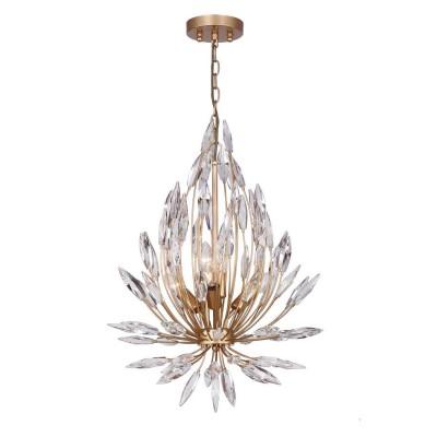 Favourite Feerie 1933-5P ЛюстраПодвесные<br><br><br>S освещ. до, м2: 10<br>Крепление: планка<br>Тип цоколя: E14<br>Количество ламп: 5<br>MAX мощность ламп, Вт: 40<br>Размеры: D480*H680/1680<br>Цвет арматуры: золотой