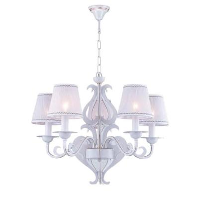 Люстра Favourite 1940-5P LuminousПодвесные<br><br><br>S освещ. до, м2: 10<br>Крепление: крюк<br>Тип цоколя: E14<br>Количество ламп: 5<br>MAX мощность ламп, Вт: 40<br>Размеры: D620*H550/1670<br>Цвет арматуры: белый
