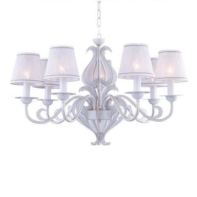 Люстра Favourite 1940-7P LuminousПодвесные<br><br><br>Установка на натяжной потолок: Да<br>S освещ. до, м2: 14<br>Крепление: крюк<br>Тип цоколя: E14<br>Количество ламп: 7<br>MAX мощность ламп, Вт: 40<br>Диаметр, мм мм: 760<br>Размеры: D760*H550/1670<br>Высота, мм: 550 - 1670<br>Цвет арматуры: белый