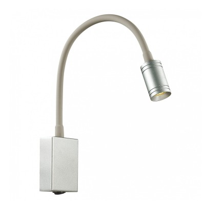 Настенный светильник Favourite 1959-1W MurumБра хай тек стиля<br><br><br>Цветовая t, К: 3000<br>Тип лампы: Накаливания / энергосбережения / светодиодная<br>Тип цоколя: LED<br>Цвет арматуры: серебристый<br>Количество ламп: 1<br>Ширина, мм: 60<br>Диаметр, мм мм: 120<br>Размеры: D120*W60*H200<br>Высота, мм: 200<br>Поверхность арматуры: блестящая<br>Оттенок (цвет): белый<br>MAX мощность ламп, Вт: 3