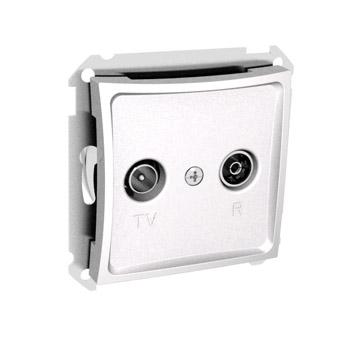 Lexel Дуэт белый Розетка телевизионная TV-R проходная 11dB (SE WDE000195)Белый<br><br><br>Оттенок (цвет): белый