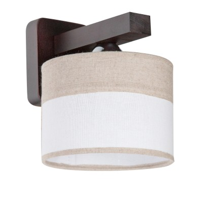 Светильник бра Дубравия 196-52-11/1W НАТАЛЬЯРустика<br>Бра НАТАЛЬЯ 1хЕ27х60W, махагон<br><br>Крепление: настенный<br>Тип лампы: накаливания / энергосбережения / LED-светодиодная<br>Тип цоколя: E27<br>Количество ламп: 1<br>Ширина, мм: 160<br>MAX мощность ламп, Вт: 60<br>Длина, мм: 190<br>Высота, мм: 200<br>Поверхность арматуры: матовый<br>Оттенок (цвет): беж/белый<br>Цвет арматуры: венге (Махагон)