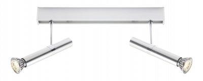 Светильник Brilliant G19629/21 TabeaДвойные<br>Зачастую мы ищем идеальное освещение для своего дома и уделяем этому достаточно много времени. Так, например, если нам нужен светильник с количеством ламп - 2! То нам, как вариант, подойдет модель - система спотов Brilliant G19629/21.<br><br>S освещ. до, м2: 8<br>Тип лампы: LED - светодиодная<br>Тип цоколя: GU10<br>Количество ламп: 2<br>Ширина, мм: 500<br>MAX мощность ламп, Вт: 6<br>Высота, мм: 160<br>Цвет арматуры: серый