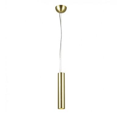 Подвес Favourite 1965-1P Pendentiодиночные подвесные светильники<br><br><br>Установка на натяжной потолок: Да<br>Крепление: Планка<br>Цветовая t, К: 3000<br>Тип лампы: LED - светодиодная<br>Тип цоколя: LED<br>Цвет арматуры: золото<br>Количество ламп: 1<br>Диаметр, мм мм: 55<br>Длина цепи/провода, мм: 1200<br>Размеры: D55*H280/1500<br>Высота, мм: 280<br>Поверхность арматуры: матовая<br>Оттенок (цвет): золотой<br>MAX мощность ламп, Вт: 9