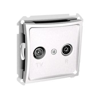 Lexel Дуэт белый Розетка телевизионная TV-R розетка оконечная 8dB (SE WDE000197)Белый<br><br><br>Оттенок (цвет): белый