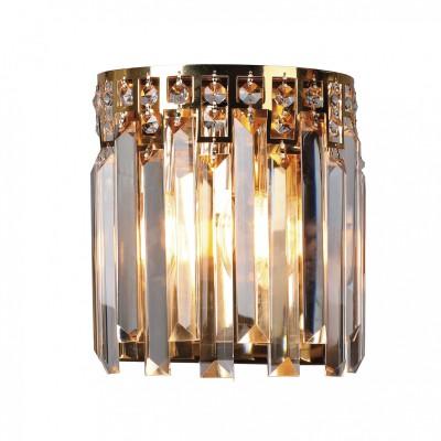 Настенный светильник Favourite 1971-1W Saltoхрустальные бра<br><br><br>Тип лампы: Накаливания / энергосбережения / светодиодная<br>Тип цоколя: E14<br>Цвет арматуры: золото<br>Количество ламп: 1<br>Ширина, мм: 120<br>Диаметр, мм мм: 180<br>Размеры: D180*W120*H205<br>Высота, мм: 205<br>Поверхность арматуры: блестящая<br>Оттенок (цвет): золотой<br>MAX мощность ламп, Вт: 40