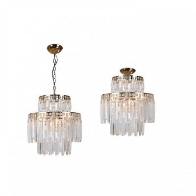 Система 2в1 (потолочный / подвесной светильник) Favourite 1971-6U Saltoподвесные хрустальные люстры<br><br><br>Крепление: Планка<br>Тип лампы: Накаливания / энергосбережения / светодиодная<br>Тип цоколя: E14<br>Цвет арматуры: золото<br>Количество ламп: 6<br>Диаметр, мм мм: 400<br>Длина цепи/провода, мм: 1000<br>Размеры: D400*H420/1420<br>Высота, мм: 420<br>Поверхность арматуры: блестящая<br>Оттенок (цвет): золотой<br>MAX мощность ламп, Вт: 40<br>Общая мощность, Вт: 240
