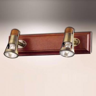 Светильник Odeon light 1972/2W бронза/деревоДвойные<br><br><br>S освещ. до, м2: 6<br>Тип товара: Светильник поворотный спот<br>Тип лампы: галогенная / LED-светодиодная<br>Тип цоколя: GU10<br>Количество ламп: 2<br>Ширина, мм: 330<br>MAX мощность ламп, Вт: 50<br>Высота, мм: 140<br>Цвет арматуры: бронзовый