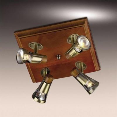 Люстра Odeon Light 1972/4W бронза/деревоПоворотные<br><br><br>Установка на натяжной потолок: Да<br>S освещ. до, м2: 13<br>Крепление: Планка<br>Тип товара: Светильник подсветка<br>Тип лампы: галогенная / LED-светодиодная<br>Тип цоколя: GU10<br>Количество ламп: 4<br>Ширина, мм: 270<br>MAX мощность ламп, Вт: 50<br>Высота, мм: 270<br>Цвет арматуры: бронзовый