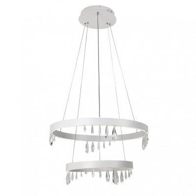 Люстра Favourite 1974-10P Pluviaсовременные подвесные люстры модерн<br><br><br>Установка на натяжной потолок: Да<br>Крепление: Планка<br>Цветовая t, К: 4000 - 4200<br>Тип лампы: LED - светодиодная<br>Тип цоколя: LED, встроенные светодиоды<br>Цвет арматуры: белый<br>Количество ламп: 2<br>Диаметр, мм мм: 600 - 400<br>Высота полная, мм: 1500<br>Размеры: D600*D400*H1500<br>Поверхность арматуры: матовая<br>Оттенок (цвет): белый<br>MAX мощность ламп, Вт: 60