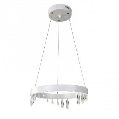 Люстра Favourite 1974-4P Pluviaсовременные подвесные люстры модерн<br><br><br>Установка на натяжной потолок: Да<br>Крепление: Планка<br>Цветовая t, К: 4000 - 4200<br>Тип лампы: LED - светодиодная<br>Тип цоколя: LED, встроенные светодиоды<br>Количество ламп: 1<br>Диаметр, мм мм: 400<br>Высота полная, мм: 1500<br>Размеры: D400*H1500<br>Поверхность арматуры: матовая<br>Оттенок (цвет): белый<br>MAX мощность ламп, Вт: 24