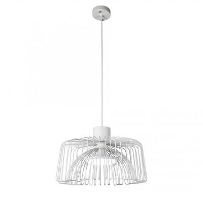 Подвес Favourite 1977-1P Qualleодиночные подвесные светильники<br><br><br>Установка на натяжной потолок: Да<br>Крепление: Планка<br>Тип лампы: Накаливания / энергосбережения / светодиодная<br>Тип цоколя: E27<br>Цвет арматуры: белый<br>Количество ламп: 1<br>Диаметр, мм мм: 450<br>Высота полная, мм: 1000<br>Размеры: D450*H1000<br>Поверхность арматуры: матовая<br>Оттенок (цвет): белый<br>MAX мощность ламп, Вт: 60