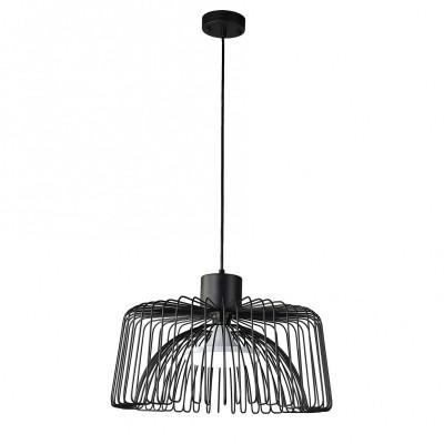Подвес Favourite 1978-1P Qualleодиночные подвесные светильники<br><br><br>Установка на натяжной потолок: Да<br>Крепление: Планка<br>Тип лампы: Накаливания / энергосбережения / светодиодная<br>Тип цоколя: E27<br>Цвет арматуры: черный<br>Количество ламп: 1<br>Диаметр, мм мм: 450<br>Высота полная, мм: 1000<br>Размеры: D450*H1000<br>Поверхность арматуры: матовая<br>Оттенок (цвет): черный<br>MAX мощность ламп, Вт: 60