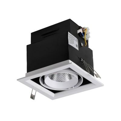 Врезной светильник  Favourite 1985-1C FlashledОжидается<br><br><br>Цветовая t, К: 4000<br>Тип цоколя: LED<br>Цвет арматуры: черный/белый<br>Ширина, мм: 140<br>Размеры: L140*W140*H105/Cutout<br>Диаметр врезного отверстия, мм: 120 x 120<br>Длина, мм: 140<br>Высота, мм: 105<br>MAX мощность ламп, Вт: 12