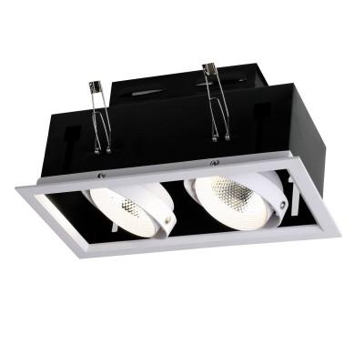 Врезной светильник  Favourite 1985-2C FlashledОжидается<br><br><br>Цветовая t, К: 4000<br>Тип цоколя: LED<br>Цвет арматуры: черный/белый<br>Количество ламп: 2<br>Ширина, мм: 140<br>Размеры: L270*W140*H105/Cutout<br>Диаметр врезного отверстия, мм: 250 x 120<br>Длина, мм: 270<br>Высота, мм: 105<br>MAX мощность ламп, Вт: 12