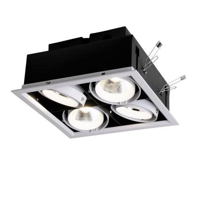 Врезной светильник  Favourite 1985-4C FlashledКарданные светильники<br><br><br>Цветовая t, К: 4000<br>Тип лампы: LED - светодиодная<br>Тип цоколя: LED, встроенные светодиоды<br>Цвет арматуры: черный/белый<br>Количество ламп: 4<br>Ширина, мм: 270<br>Размеры: L270*W270*H105/Cutout<br>Диаметр врезного отверстия, мм: 250 x 250<br>Длина, мм: 270<br>Высота, мм: 105<br>MAX мощность ламп, Вт: 12<br>Общая мощность, Вт: 48