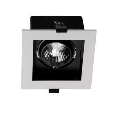 Врезной светильник  Favourite 1988-1C FlashledОжидается<br><br><br>Цветовая t, К: 4000<br>Тип цоколя: LED<br>Цвет арматуры: черный/белый<br>Ширина, мм: 120<br>Размеры: L120*W120*H92/Cutout<br>Диаметр врезного отверстия, мм: 95 x 105<br>Длина, мм: 120<br>Высота, мм: 92<br>MAX мощность ламп, Вт: 10