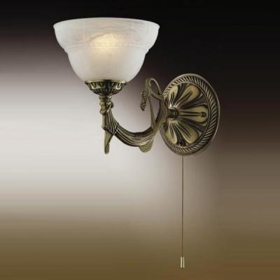 Светильник с выкл. Odeon Light 1992/1W бронза PalacioКлассика<br><br><br>S освещ. до, м2: 2<br>Тип лампы: накаливания / энергосбережения / LED-светодиодная<br>Тип цоколя: E14<br>Количество ламп: 1<br>Ширина, мм: 165<br>MAX мощность ламп, Вт: 40<br>Расстояние от стены, мм: 240<br>Высота, мм: 250<br>Цвет арматуры: бронзовый