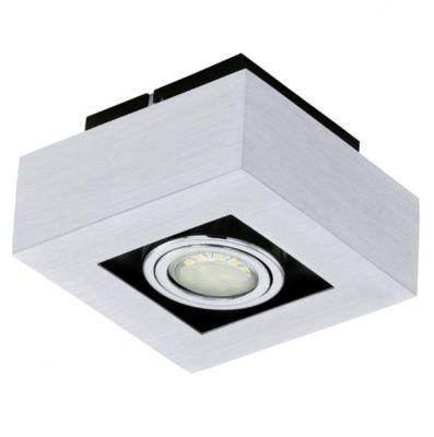 Eglo LOKE 1 91352 Настенно-потолочные светильникиКарданные<br><br><br>Крепление: потолочное<br>Тип товара: Настенно-потолочные светильники<br>Цветовая t, К: 3000 (теплый белый)<br>Тип цоколя: GU10<br>Количество ламп: 1<br>Ширина, мм: 140<br>MAX мощность ламп, Вт: 2<br>Размеры основания, мм: 0<br>Длина, мм: 140<br>Расстояние от стены, мм: 85<br>Цвет арматуры: алюминий чесаный, хром, черный<br>Общая мощность, Вт: 1X5W