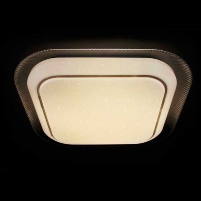 Светильник светодиодный Ambrella F49 WH 48W S450Квадратные встраиваемые светильники<br>Потолочный светодиодный светильник с пультом F49 WH 48W S450 – продукт российской компании Ambrella, известной качеством и доступностью выпускаемой светотехники. Дизайн модели сделан в стиле модерн, материалы изготовления – металл и пластик. Степень пылевлагозащиты IP20, поэтому использовать устройство можно только в сухих помещениях. Патрон рассчитан на лампочки с цоколем 1xLED. Максимальная мощность в 48 Вт позволяет освещать 10 кв. м. Заказывайте потолочный светодиодный светильник с пультом F49 WH 48W S450 с удобной доставкой на нашем сайте.<br><br>S освещ. до, м2: 10<br>Цветовая t, К: от теплого до холодного<br>Тип лампы: Светодиодный модуль<br>Тип цоколя: LED<br>Цвет арматуры: Белый<br>Количество ламп: 1<br>Диаметр, мм мм: 480<br>Высота, мм: 100<br>Поверхность арматуры: глянцевая<br>Оттенок (цвет): белый<br>MAX мощность ламп, Вт: 48