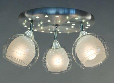Citilux Самба CL158132 Люстра потолочная со светодиодной подсветкойПоворотные<br><br><br>Установка на натяжной потолок: Ограничено<br>S освещ. до, м2: 15<br>Крепление: Планка<br>Тип товара: Люстра потолочная со светодиодной подсветкой<br>Тип лампы: накаливания / энергосбережения / LED-светодиодная<br>Тип цоколя: E27<br>Количество ламп: 3<br>MAX мощность ламп, Вт: 75<br>Диаметр, мм мм: 380<br>Размеры: Диаметр 38 см. Высота 22,5 см.Стекло 157.11.1<br>Высота, мм: 230<br>Оттенок (цвет): белый<br>Цвет арматуры: серебристый
