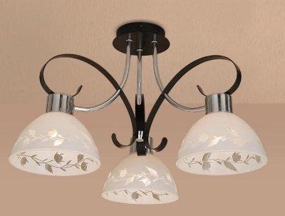 Citilux Фуга CL154131 Люстра потолочнаяПотолочные<br><br><br>Установка на натяжной потолок: Да<br>S освещ. до, м2: 15<br>Крепление: Планка<br>Тип товара: Люстра потолочная<br>Тип лампы: накаливания / энергосбережения / LED-светодиодная<br>Тип цоколя: E27<br>Количество ламп: 3<br>MAX мощность ламп, Вт: 75<br>Диаметр, мм мм: 570<br>Размеры: Диаметр 44 см. Высота 31,5 см.<br>Высота, мм: 320<br>Оттенок (цвет): белый<br>Цвет арматуры: серебристый