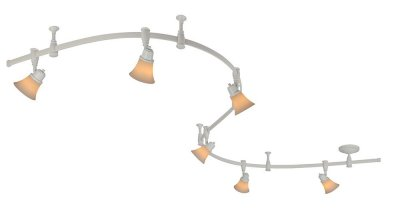 Citilux Трек CL560260 Трековый светильникСветильники для трека<br><br><br>S освещ. до, м2: до 24<br>Тип лампы: накал-я - энергосбер-я<br>Тип цоколя: E14<br>Количество ламп: 6<br>MAX мощность ламп, Вт: 60<br>Размеры: Трековая система 220V на гибкой шине длиной 300см, в комплекте 6 стоек крепления шины и 6 головок, размер головки 12см, лампы Е14 или R50, Белое стекло и современный дизайн<br>Длина, мм: 3000<br>Цвет арматуры: белый