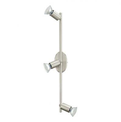 Eglo BUZZ-LED 92597 Светильник поворотный спотТройные<br>Светильники-споты – это оригинальные изделия с современным дизайном. Они позволяют не ограничивать свою фантазию при выборе освещения для интерьера. Такие модели обеспечивают достаточно качественный свет. Благодаря компактным размерам Вы можете использовать несколько спотов для одного помещения.  Интернет-магазин «Светодом» предлагает необычный светильник-спот Eglo 92597 по привлекательной цене. Эта модель станет отличным дополнением к люстре, выполненной в том же стиле. Перед оформлением заказа изучите характеристики изделия.  Купить светильник-спот Eglo 92597 в нашем онлайн-магазине Вы можете либо с помощью формы на сайте, либо по указанным выше телефонам. Обратите внимание, что мы предлагаем доставку не только по Москве и Екатеринбургу, но и всем остальным российским городам.<br><br>Крепление: потолочное<br>Цветовая t, К: 3000 (теплый белый)<br>Тип лампы: галогенная / LED-светодиодная<br>Тип цоколя: GU10<br>Количество ламп: 3<br>Ширина, мм: 65<br>MAX мощность ламп, Вт: 2,5<br>Размеры основания, мм: 0<br>Длина, мм: 485<br>Цвет арматуры: серый<br>Общая мощность, Вт: 3X3W
