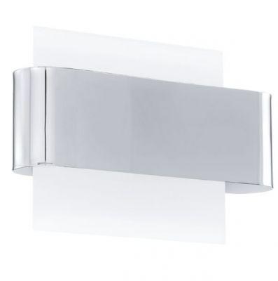 Eglo SANIA 91342 Настенно-потолочный светильникХай-тек<br><br><br>S освещ. до, м2: 6<br>Крепление: настенное<br>Тип цоколя: G9<br>Количество ламп: 2<br>MAX мощность ламп, Вт: 2<br>Размеры основания, мм: 0<br>Длина, мм: 270<br>Расстояние от стены, мм: 95<br>Высота, мм: 190<br>Цвет арматуры: серебристый<br>Общая мощность, Вт: 2X33W