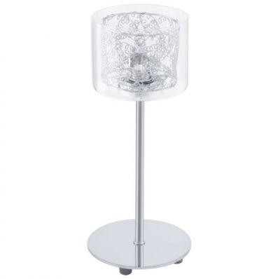 Eglo PIANELLA 91736 Настольная лампаХай тек<br>Австрийское качество модели светильника Eglo 91736 не оставит равнодушным каждого купившего! Прозрачное закаленное стекло(пр-во Чехия), кристаллы (хрусталь Пр-во Египет Asfour), Хромированный глянцевый ажурный корпус, Класс изоляции 2 (двойная изоляция), отдельный выключатель, IP 20, освещенность 470 lm ,Н=300, D120 1X33W,G9.<br><br>S освещ. до, м2: 2<br>Тип товара: Настольная лампа<br>Скидка, %: 47<br>Тип цоколя: G9<br>Количество ламп: 1<br>MAX мощность ламп, Вт: 2<br>Диаметр, мм мм: 120<br>Размеры основания, мм: 0<br>Высота, мм: 300<br>Оттенок (цвет): прозрачный<br>Цвет арматуры: серебристый<br>Общая мощность, Вт: 1X33W
