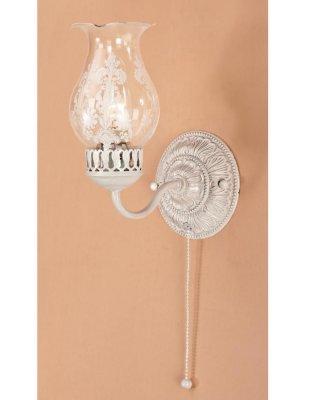 Citilux Метафора CL413312 Светильник настенный браКлассика<br><br><br>S освещ. до, м2: 4<br>Тип товара: Светильник настенный бра<br>Тип лампы: накаливания / энергосбережения / LED-светодиодная<br>Тип цоколя: E14<br>Количество ламп: 1<br>Ширина, мм: 180<br>MAX мощность ламп, Вт: 60<br>Длина, мм: 120<br>Высота, мм: 260<br>Поверхность арматуры: матовый, рельефный<br>Оттенок (цвет): белый<br>Цвет арматуры: кремовый