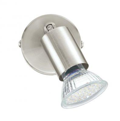 Eglo BUZZ-LED 92595 Светильник поворотный спотОдиночные<br>Светильники-споты – это оригинальные изделия с современным дизайном. Они позволяют не ограничивать свою фантазию при выборе освещения для интерьера. Такие модели обеспечивают достаточно качественный свет. Благодаря компактным размерам Вы можете использовать несколько спотов для одного помещения.  Интернет-магазин «Светодом» предлагает необычный светильник-спот Eglo 92595 по привлекательной цене. Эта модель станет отличным дополнением к люстре, выполненной в том же стиле. Перед оформлением заказа изучите характеристики изделия.  Купить светильник-спот Eglo 92595 в нашем онлайн-магазине Вы можете либо с помощью формы на сайте, либо по указанным выше телефонам. Обратите внимание, что у нас склады не только в Москве и Екатеринбурге, но и других городах России.<br><br>Крепление: настенное<br>Цветовая t, К: 3000 (теплый белый)<br>Тип лампы: галогенная / LED-светодиодная<br>Тип цоколя: GU10<br>Количество ламп: 1<br>MAX мощность ламп, Вт: 2,5<br>Диаметр, мм мм: 60<br>Размеры основания, мм: 0<br>Цвет арматуры: серый<br>Общая мощность, Вт: 1X3W