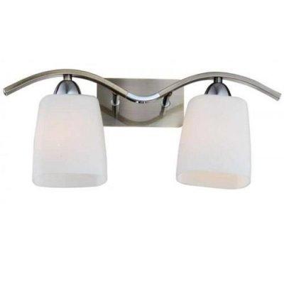 Citilux Рада CL149321 Светильник настенный браСовременные<br><br><br>S освещ. до, м2: 8<br>Тип лампы: накаливания / энергосбережения / LED-светодиодная<br>Тип цоколя: E14<br>Количество ламп: 2<br>Ширина, мм: 410<br>MAX мощность ламп, Вт: 60<br>Размеры: Высота 19см, Ширина 41см, Глубина 16см, Выдувное молочнобелое стекло, с выключателем<br>Длина, мм: 160<br>Высота, мм: 200<br>Поверхность арматуры: глянцевый<br>Оттенок (цвет): белый<br>Цвет арматуры: бронзовый, серебристый хром