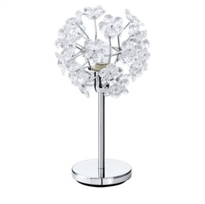Eglo FENARI 91821 настольная лампаФлористика<br><br><br>S освещ. до, м2: 4<br>Тип товара: настольная лампа<br>Скидка, %: 47<br>Тип цоколя: E14<br>Количество ламп: 1<br>MAX мощность ламп, Вт: 60<br>Диаметр, мм мм: 200<br>Высота, мм: 370<br>Цвет арматуры: серебристый