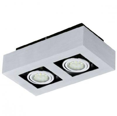Eglo LOKE 1 91353 Настенно-потолочные светильникиКарданные<br><br><br>Крепление: потолочное<br>Цветовая t, К: 3000 (теплый белый)<br>Тип цоколя: GU10<br>Количество ламп: 2<br>Ширина, мм: 140<br>MAX мощность ламп, Вт: 2<br>Размеры основания, мм: 0<br>Длина, мм: 250<br>Расстояние от стены, мм: 85<br>Цвет арматуры: алюминий чесаный, хром, черный<br>Общая мощность, Вт: 2X5W