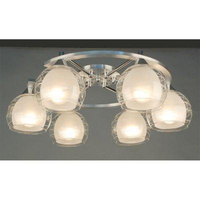 Citilux Буги CL157162 Люстра потолочнаяПотолочные<br><br><br>Установка на натяжной потолок: Ограничено<br>S освещ. до, м2: 30<br>Крепление: Планка<br>Тип товара: Люстра потолочная<br>Тип лампы: накаливания / энергосбережения / LED-светодиодная<br>Тип цоколя: E27<br>Количество ламп: 6<br>Ширина, мм: 540<br>MAX мощность ламп, Вт: 75<br>Размеры: Габариты 66,5х53,5 см, высота 19,5 см.<br>Длина, мм: 660<br>Высота, мм: 200<br>Оттенок (цвет): белый<br>Цвет арматуры: серебристый