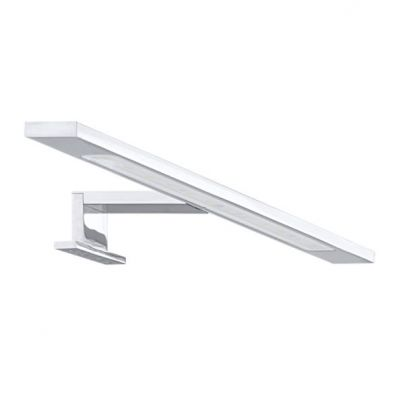 Eglo IMENE 92095 светильник для ванной комнаты и зеркалДля зеркала<br>Австрийское качество модели светильника Eglo 92095 не оставит равнодушным каждого купившего! Матовое закаленное стекло(пр-во Чехия), Хромированный корпус, Класс изоляции 2 (плоская вилка, двойная изоляция от вилки до лампы), IP 20, Экологически безопасные технологии, освещенность 1240 lm ,L=400Н=45,6W (12LED),LED.<br><br>S освещ. до, м2: 2<br>Крепление: настенное<br>Цветовая t, К: 4000 (нейтральный белый)<br>Тип цоколя: LED<br>Цвет арматуры: серебристый<br>Количество ламп: 1<br>Размеры основания, мм: 0<br>Длина, мм: 400<br>Расстояние от стены, мм: 110<br>Высота, мм: 35<br>Оттенок (цвет): белый<br>MAX мощность ламп, Вт: 6  (12 LED)<br>Общая мощность, Вт: 6W (12LED)