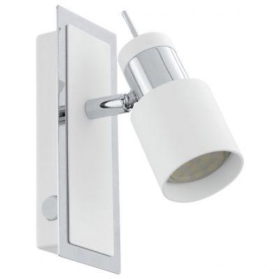 Eglo DAVIDA 92084 Светильник поворотный спотОдиночные<br>Светильники-споты – это оригинальные изделия с современным дизайном. Они позволяют не ограничивать свою фантазию при выборе освещения для интерьера. Такие модели обеспечивают достаточно качественный свет. Благодаря компактным размерам Вы можете использовать несколько спотов для одного помещения.  Интернет-магазин «Светодом» предлагает необычный светильник-спот Eglo 92084 по привлекательной цене. Эта модель станет отличным дополнением к люстре, выполненной в том же стиле. Перед оформлением заказа изучите характеристики изделия.  Купить светильник-спот Eglo 92084 в нашем онлайн-магазине Вы можете либо с помощью формы на сайте, либо по указанным выше телефонам. Обратите внимание, что у нас склады не только в Москве и Екатеринбурге, но и других городах России.<br><br>S освещ. до, м2: 2<br>Крепление: настенное<br>Цветовая t, К: 3000 (теплый белый)<br>Тип лампы: галогенная / LED-светодиодная<br>Тип цоколя: GU10<br>Цвет арматуры: серебристый<br>Количество ламп: 1<br>Ширина, мм: 70<br>Размеры основания, мм: 0<br>Длина, мм: 165<br>MAX мощность ламп, Вт: 5<br>Общая мощность, Вт: 1X5W