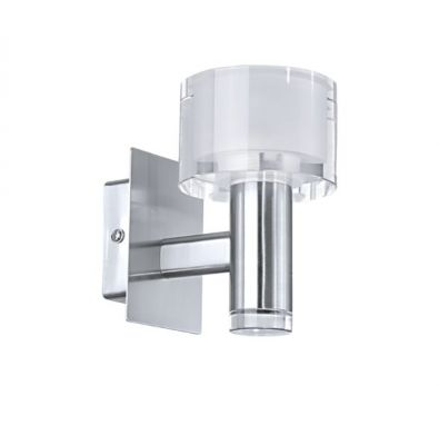Eglo FABIANA 90578 Светильник настенный браБра хай тек стиля<br><br><br>S освещ. до, м2: 2<br>Крепление: настенное<br>Тип цоколя: G9<br>Цвет арматуры: серебристый<br>Количество ламп: 1<br>Длина, мм: 90<br>Расстояние от стены, мм: 130<br>Высота, мм: 150<br>MAX мощность ламп, Вт: 33