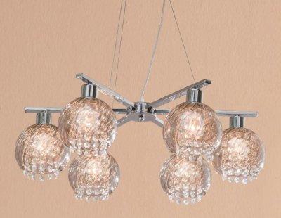 Citilux Бейт CL317161 Люстра подвесная хрустальнаяПодвесные<br><br><br>Установка на натяжной потолок: Да<br>S освещ. до, м2: 24<br>Крепление: Планка<br>Тип товара: Люстра подвесная хрустальная<br>Тип лампы: накаливания / энергосбережения / LED-светодиодная<br>Тип цоколя: E27<br>Количество ламп: 6<br>MAX мощность ламп, Вт: 60<br>Диаметр, мм мм: 680<br>Размеры: Диаметр 68см, Высота 30…120см, Хрусталь за дымчатым стеклом<br>Высота, мм: 300-1200<br>Оттенок (цвет): дымчатый, прозрачный<br>Цвет арматуры: серебристый