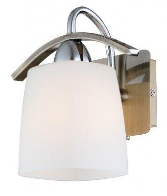 Citilux Рада CL149311 Светильник настенный браСовременные<br><br><br>S освещ. до, м2: 4<br>Тип лампы: накаливания / энергосбережения / LED-светодиодная<br>Тип цоколя: E14<br>Количество ламп: 1<br>Ширина, мм: 190<br>MAX мощность ламп, Вт: 60<br>Размеры: Высота 20см, Ширина 19см, Глубина 16см, Выдувное молочнобелое стекло, с выключателем<br>Длина, мм: 160<br>Высота, мм: 200<br>Оттенок (цвет): белый<br>Цвет арматуры: бронзовый, серебристый хром