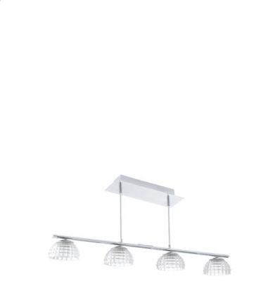 Eglo FROSSINI 92218 Светильник подвеснойПодвесные<br>Компания «Светодом» предлагает широкий ассортимент люстр от известных производителей. Представленные в нашем каталоге товары выполнены из современных материалов и обладают отличным качеством. Благодаря широкому ассортименту Вы сможете найти у нас люстру под любой интерьер. Мы предлагаем как классические варианты, так и современные модели, отличающиеся лаконичностью и простотой форм.   Стильная люстра Eglo 92218 станет украшением любого дома. Эта модель от известного производителя не оставит равнодушным ценителей красивых и оригинальных предметов интерьера. Люстра Eglo 92218 обеспечит равномерное распределение света по всей комнате. При выборе обратите внимание на характеристики, позволяющие приобрести наиболее подходящую модель.   Купить понравившуюся люстру по доступной цене Вы можете в интернет-магазине «Светодом».<br><br>Установка на натяжной потолок: Да<br>S освещ. до, м2: 15<br>Крепление: Планка<br>Цветовая t, К: 3000 (теплый белый)<br>Тип лампы: LED - светодиодная<br>Тип цоколя: LED<br>Количество ламп: 4<br>Ширина, мм: 130<br>MAX мощность ламп, Вт: 6<br>Размеры основания, мм: 0<br>Длина, мм: 910<br>Высота, мм: 1100<br>Оттенок (цвет): прозрачный<br>Цвет арматуры: серебристый<br>Общая мощность, Вт: 4X6W