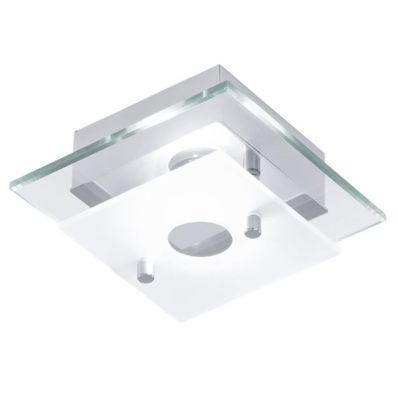 Eglo BANTRY 91197 Настенно-потолочный светильникКвадратные<br>Австрийское качество модели светильника Eglo 91197 не оставит равнодушным каждого купившего! Стальной хромированный корпус, Белое матовое стекло, Класс изоляции 2 (двойная изоляция), IP 20, Экологически безопасные технологии. Освещенность 450 lm , L=125, B=125, H=75. 1X40W(G9).<br><br>Установка на натяжной потолок: Ограничено<br>S освещ. до, м2: 2<br>Крепление: Планка<br>Тип цоколя: G9<br>Количество ламп: 1<br>Ширина, мм: 125<br>MAX мощность ламп, Вт: 2<br>Размеры основания, мм: 0<br>Длина, мм: 125<br>Высота, мм: 75<br>Оттенок (цвет): белый, прозрачный<br>Цвет арматуры: серебристый<br>Общая мощность, Вт: 1X33W