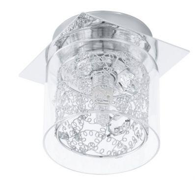 Eglo PIANELLA 91732 Настенно-потолочный светильникПотолочные<br>Австрийское качество модели светильника Eglo 91732 не оставит равнодушным каждого купившего! Прозрачное закаленное стекло(пр-во Чехия), кристаллы (хрусталь Пр-во Египет Asfour), Хромированный глянцевый ажурный корпус, Класс изоляции 2 (двойная изоляция), IP 20, освещенность 470 lm ,Н=140,L=140 1X33W,G9.<br><br>Установка на натяжной потолок: Ограничено<br>S освещ. до, м2: 2<br>Крепление: Планка<br>Тип цоколя: G9<br>Количество ламп: 1<br>Ширина, мм: 140<br>MAX мощность ламп, Вт: 33<br>Размеры основания, мм: 0<br>Длина, мм: 140<br>Высота, мм: 115<br>Оттенок (цвет): прозрачный<br>Цвет арматуры: серебристый<br>Общая мощность, Вт: 1X33W